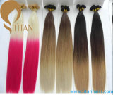 100% estensioni pre legate dei capelli di Remy nel colore di Ombre