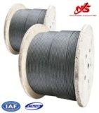 ASTM Ungalvanizedの鋼線ロープの航空機ケーブル7X19 A1のグリース