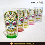 Het hete Glas van de Pint van de Schedel van de Verkoop Hoofd Kleurrijke