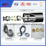Vida útil larga Rodillo de transporte de acero a través de ruedas dentadas
