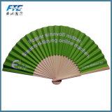A alta qualidade feita sob encomenda de madeira e os ventiladores Foldable de seda de bambu dobram acima o ventilador