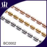 Collier en chaîne de boule de métal brillant à chaud de 3,2 mm