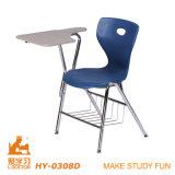 Moderner Entwurfs-Metall und pp.-Plastikschreibens-Stuhl