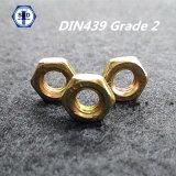Noix Hex Grade2 d'acier du carbone DIN439