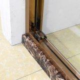 Le bâti de galvanoplastie de luxe conçoivent la porte en verre de douche pour la salle de bains