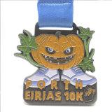 Medaglia corrente di Halloween di sport di maratona antica su ordinazione