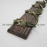 High-Grade hermosa ropa Gancho Gancho de tablero de metal y madera (ZH-7030)