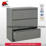 3 Fach-Metallc$voll-aufhebung seitlicher zugelassene oder letzte Stahlbefestigungsteil-hängender Datei-Schrank