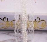 服のための新しいデザイン真珠の刺繍のレース
