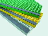 FRP antidérapage moulé et semelle d'escalier de Pultruded avec la surface de sablage