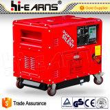 Супер молчком портативный тепловозный генератор (DG6500SE-N)
