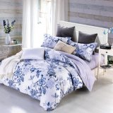 heiße verkaufenbettwäsche mit 100 blaue Blumenentwerfer-Frauen des Baumwollreagierenden Druckes