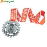 Promoção Medalha do logotipo do cliente passadeira de fita