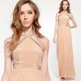 Cordão Chiffon pregueamento de alta qualidade vestir roupas de mulheres de designer