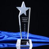 Premio di cristallo di vetro poco costoso all'ingrosso del trofeo