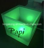 플라스틱 LED Square Ice Cream Buckets 또는 Beer를 위한 Plastic Bucket
