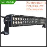 20 barra chiara di pollice 120W LED con la barra chiara nera di CC LED del coperchio 10-30V