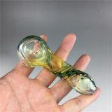 Новая стеклянная труба стекла табака кальяна оптовой продажи ложки трубы руки