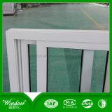 Singola finestra poco costosa di vetro del PVC del blocco per grafici bianco