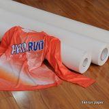 Быстрый сухой крен бумаги сублимации, 44 '' 100GSM вполне липкого, тяжелая потрёпанная бумага переноса сублимации для Sportswear