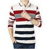 Рубашка пола длинних втулок Striped с логосом вышивки