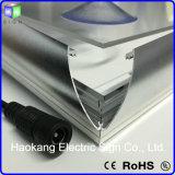 Châssis en aluminium incurvé Snap Case lumière LED du panneau d'affichage de publicité