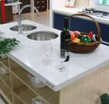 Countertop van de Keuken van de Steen van het Kwarts van de fonkeling Witte