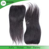 Pranchas em bruto de alta qualidade Remy de cabelo humano 100% brasileira Encerramento humana