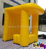 Tenda gonfiabile gialla della cabina per fare pubblicità