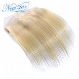 Frontal diritto della chiusura del merletto del tessuto dei capelli del brasiliano dei capelli biondi 613