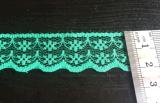 Gummiband-Stickerei-Blumen-Spitze der Form-2.2cm für Dekoration