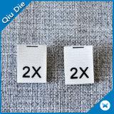 Aucune étiquette 100% pliée d'impression de bande de coton pour le vêtement