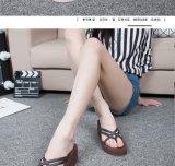 Belleza moda zapatillas de tacón de cuña