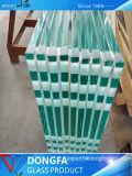Vidrio laminado templado prima económica para la valla de vidrio