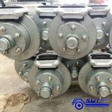 Transportes pesados Eixos Duplos Estrado reboques com freios
