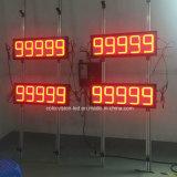 888.88 étanche personnalisé 5 chiffres rouge/vert/blanc/orange LED affichage du prix du gaz