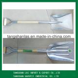 De Schop van de Spade van het Aluminium van de schop met Houten Handvat