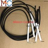Glasig-glänzende Elektroden-Tonerde-keramische Funken-Stecker-Isolierung