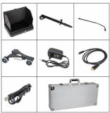 Nuevo mástil inferior poste de la cámara del CCTV del examen del vehículo de 1080P HD de la llegada 7 ' mini con las ruedas con 7 el sistema video de la pulgada DVR