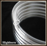Transparency Fused polish Helical Quartz Glass tube beeps to tubing