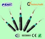 Câble optique GYTA53 de fibre de mode Diriger-Enterrement simple/multi du faisceau 48