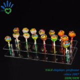 Effacer l'acrylique Lucite carrés à épaulement Pousser porte-conteneurs Pop Lollipop Présentoir