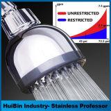Cromo fijo del alto flujo de alta presión del LED Showerhead de 3 pulgadas