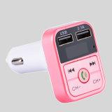 Couleurs Fvie émetteur FM de voiture Bluetooth avec fonction de chargeur