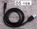 비용을 부과하는 유형 C USB 케이블 접합기 유형 C USB 가죽 케이블 USB C 3.1, 이동 전화를 위한 유형 C 전화 3.0 USB 데이터 충전기 케이블