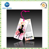 A corda impressa do Tag 2016 costume de papel natural etiqueta (JP-HT062)