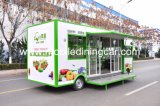 Fruits et légumes chauds de vente vendant le camion de mobilier amovible de quatre roues