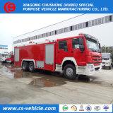 미얀마를 위한 물과 거품 탱크를 가진 아주 새로운 HOWO 4X2 비상사태 화재 구조 트럭