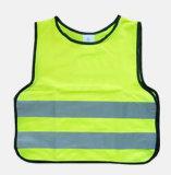 Chaleco reflexivo de la seguridad plástica amarilla del niño
