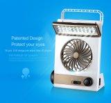 3 in 1 Solar-Gleichstrom-Ventilator mit LED-Licht und Taschenlampe